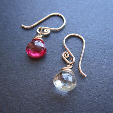 Handmade Wire Wrapped Gemstone Drop Dangle Earrings – You Choose Gemstone
