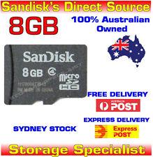 SanDisk Genuine micro SD 8GB SDHC class 4  8G memory card TAX Inv
