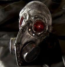 Steampunk leather gas mask - Halloween comicon, robot plague doctor horror
