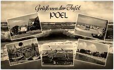 Gruss Mehrbild-AK von der Insel POEL Ostsee Hafen Strasse DDR Postkarte um 1960