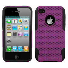 APPLE iPHONE 4 4S DUAL LAYER (RUBBER+SILICONE) HYBRID CASE PURPLE