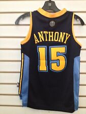 NUGGETS CARMELO ANTHONY #15 YOUTH  JERSEY SM +2 #15 ADIDAS NBA AUTHENTIC