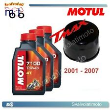 KIT TAGLIANDO YAMAHA T-MAX TMAX 2004 3 LITRI OLIO MOTUL 7100 10W40 + FILTRO OLIO