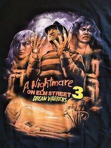 Fright Crate Exclusive A Nightmare on Elm Street 3 Dream Warriors Black T-shirt