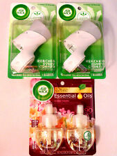 Air Wick Scented Oil Air Freshener Warmer Plug In and Essential Oils Lot of 3