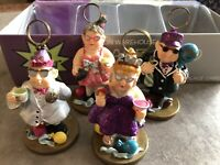 NIB SET/4 NEW YEARS PARTY Table Decor 2000 OR BUST Bouncy Placecard Holders Y2K