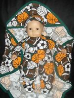 """SALE Sports Ball Sleeper  15"""" Doll Clothes Made2Fit American Girl Bitty Baby Boy"""