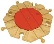 TURNTABLE ~ 8 way ~ for Wooden Train Track Set  ~ NEW / BOXED A5