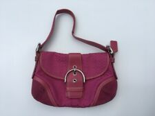 Signature Coach Hobo Soho Pink Canvas And Leather Handbag