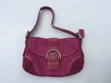 Signature Coach Hobo Soho Pink Canvas And Leather Handbag