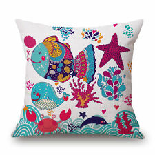 Fish Cartoon Decorative Cushions & Pillows