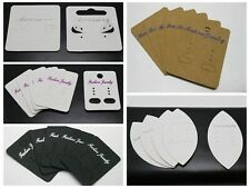 Craft DIY Kraft Paper Jewelry Earring Display Hanging Holder Cards Various Shape