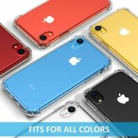 For Apple iPhone XR Slim Clear Transparent Back Shockproof Hard Phone Case
