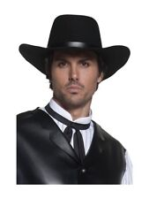 Black Cowboy Hat Gunslinger Stetson Adults Fancy Dress Accessory