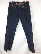Coogi womens jeans size 9/10 dark embroidered straight leg RN# 121510