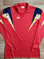 Mizuno Vintage Mens Sweatshirt Long Sleeve Jersey Shirt Cotton Modal Red 2XL
