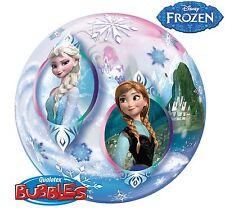 1 x Qualatex 55.9cm BALLON BULLE - LA REINE DES NEIGES - Anna Elsa et Olaf