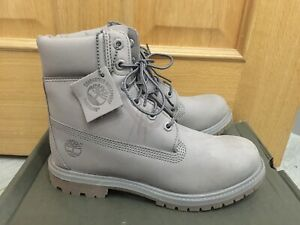 "LADIES NEW TIMBERLAND CLASSIC 6"" NUBUCK LEATHER BOOTS IN MEDIUM GREY, UK 4.5"