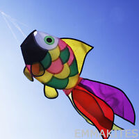 NEW Rainbow Fish Kite Windsock Outdoor Garden Decor Kids Line Laundry Kids Toys