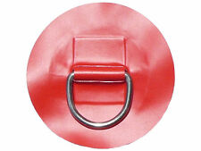 "Inflatable Boat  Stainless steel  ""D"" ring on RED pvc patch - large size."
