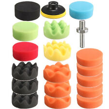 19PCS Car Polisher Pad Buffer Gross Polish Polishing Kit Set Drill Adapter UK