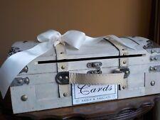 Wedding Cards Rustic Trunk w/ Card Slot, Vintage Wedding Card Box, PERSONALIZED