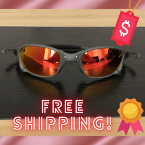 X-Metal Juliet Cyclops Sunglasses Ruby Polarized Lenses TITANIUM Cycling Goggles
