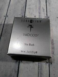 Sebastian Trucco Trio Blush Jewel 71704 .3 oz Pressed Powder Small Smear