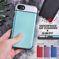 iPhone 8 7 Plus X Xs Shockproof Case Heavy Duty Slim Back Cover for Apple