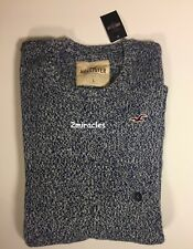 Hollister by Abercrombie & Fitch Men's Blue Crew Marled Sweater Large L NWT