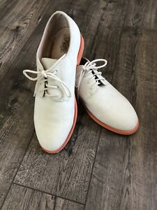 Joe Fresh white buck suede leather lace up Men's 9