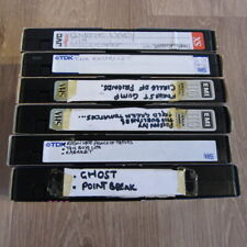 6 Old & used 'blank' VHS video cassette tapes - E240