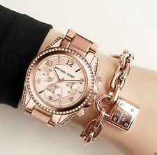 Original Michael Kors Watch Women's MK5263 Blair Colour: Rose Gold Crystal NEW