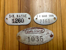 Group Of 3 Equipment Tags From Dresser SK Wayne Hand ToolS DEFIANCE OH INV-P0867