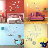 LIVE LAUGH LOVE QUOTE REMOVABLE WALL STICKERS MIRROR DECAL ART DIY ROOM DECOR