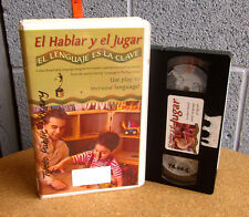 HABLAR Y EL JUGAR language instruction VHS bilingual children playtime Spanish