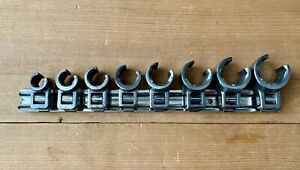 "Bonney Tool SET of 8, 3/8"" Drive, Deep Crowfoot Flare Nut Wrenches, Excellent!"