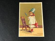 CHROMO CARD COURBE ROUZET PERRON PARIS BESANÇON  EPOQUE 1880 90 LE DE A COUDRE