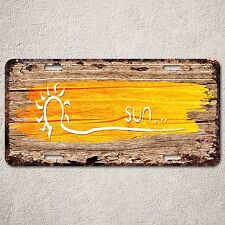 LP0267 Sun wood Rust Auto License Plate cafe  Bar Home Room Wall Door Decor sign