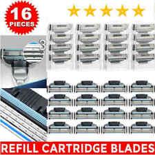 16Pcs Men Razor Blades for Gillette MACH 3 Shaver Shaving Cartridges Refill Blue