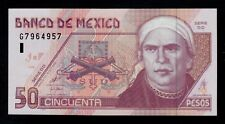 MEXICO  50  PESOS  2000   DD  PICK # 117a  AU.