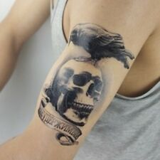 Einmal Tattoo Fake Tattoo Skull Crow Expendable wasserfest waterproof (HB-094)