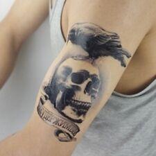 Einmal Tattoo Fake Tattoo Skull Crow Expendable wasserfest waterproof (HB-094)