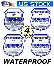 4 BRINKS HOME SECURITY STICKER DECAL SIGNS