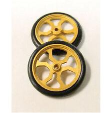 """JDS 17"""" Spider Gold Front Drag 1/24 Slot Car Tires"""