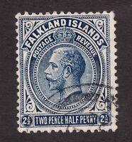 Sc33  / SG63 - Falkland Islands - 2½d - KGV - 1912 - Used - superfleas - cv$25