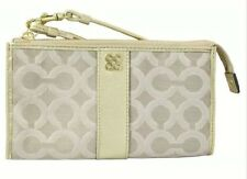 NWT Coach Julia. Signature Op Art Zippy Wallet Wristlet Clutch 46805