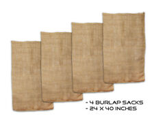 "Get Out!™ Burlap Potato Sack Race Game 23"" x 40"" with Natural Fabric Bags 4-Pack"