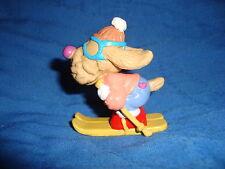 "Wrinkles Vintage 1986 Ganz Bros PVC Figure DOWNHILL SKIER 2.5"" tall"