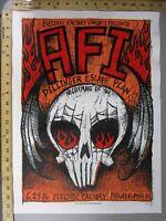 2006 Rock Concert Poster AFI Print Mafia S/N LE 125 Electric Factory Skull Flame